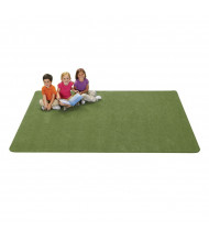 Carpets for Kids KIDply Soft Solids Rectangle Classroom Rug, Grass Green