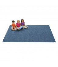 Carpets for Kids KIDply Soft Solids Rectangle Classroom Rug, Denim