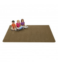 Carpets for Kids KIDply Soft Solids Rectangle Classroom Rug, Brown Sugar