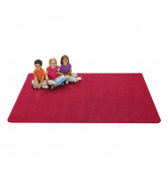 Carpets for Kids KIDply Soft Solids Rectangle Classroom Rug, Red Velvet