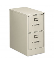 "HON 512PQ 2-Drawer 25"" Deep Vertical File Cabinet, Letter Size, Light Grey"