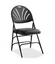 Samsonite XL Series Fanback Vinyl Folding Chair, Pack of 4 (Shown in Black)