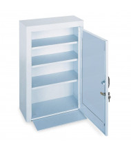 "Durham Steel 18"" x 8"" x 27"" 3-Shelf Medical Storage Cabinet with Metal Door"
