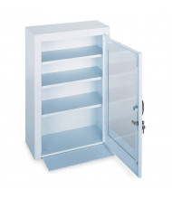 "Durham Steel 18"" x 8"" x 27"" 3-Shelf Medical Storage Cabinet with Plexiglass Door"
