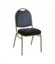 "KFI Seating 520 Fabric 2"" Padded Seat Stacking Chair (Blue Denim / Textured Mocha)"