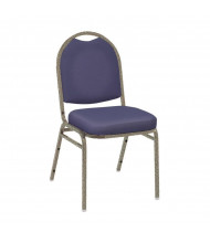 "KFI Seating 520 Vinyl 2"" Padded Seat Stacking Chair (Navy / Textured Mocha)"