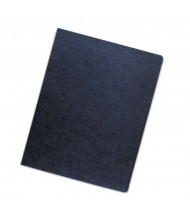 "Fellowes 7.5 Mil 8.75"" x 11.25"" Round Corner Linen Texture Navy Binding Cover, 50/Pack"