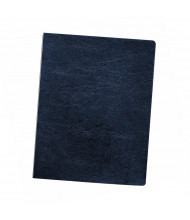 "Fellowes 7.5 Mil 8.75"" x 11.25"" Rounded Corner Grain Texture Navy Binding Cover, 200/Pack"