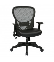 Office Star Deluxe R2 SpaceGrid Mesh-Back Eco-Leather Mid-Back Task Chair, 529-E3R2N1F2