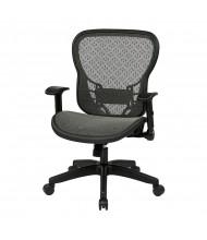 Office Star Deluxe R2 SpaceGrid Mesh Mid-Back Task Chair, 529-R22N1F2