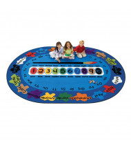 Carpets for Kids Bilingual Paint by Numero Oval Classroom Rug