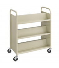"Safco Scoot 36"" W 6-Shelf Double-Sided School Book Cart"