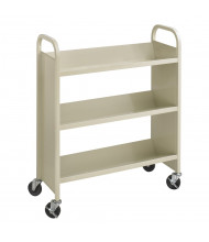 "Safco Scoot 36"" W 3-Shelf School Book Cart"