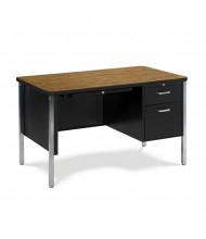 "Virco 48"" W Single Pedestal Metal Teacher's Desk"