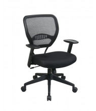 Office Star Professional AirGrid Mesh-Back Fabric Mid-Back Managers Chair (Model 5500)