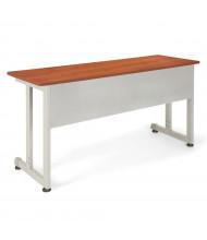 "OFM 55141 55"" W x 20"" D Modular Melamine Training Table (Shown in Cherry)"