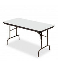 "Iceberg 72"" W x 30"" D Premium Wood Laminate Folding Table (Shown in Grey)"