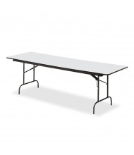 "Iceberg 96"" W x 30"" D Premium Wood Laminate Folding Table (Shown in Grey)"