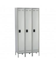 Safco Single Tier 3-Wide Steel Locker (Shown in Grey)