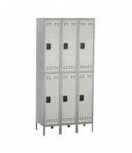 Safco Double Tier 3-Column Steel Locker (Shown in Grey)
