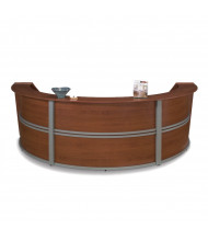 """OFM Marque 55293 142"""" W U-Shaped Curved Reception Station (Shown in Cherry)"""