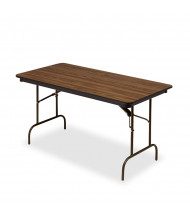 "Iceberg 60"" x 18"" Premium Wood Laminate Folding Table. Shown in Oak"