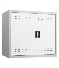 "Safco 30"" W x 18"" D x 27"" H Wall Mount Storage Cabinet, Assembled (Shown in Grey)"