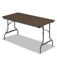 "Iceberg 55314 30"" x 60"" Economy Wood Laminate Folding Table"