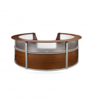 "OFM Marque 55316 142"" W U-Shaped Plexi Panel Curved Reception Desk (Shown in Cherry)"