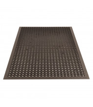 NoTrax 562 Sanitop 3' x 5' Rubber Drainage Anti-Fatigue Floor Mat, Black
