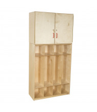 """Wood Designs 4 Section Classroom Coat Locker with Storage Cabinet, 75"""" H x 36"""" W x 15"""" D"""