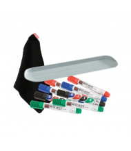 Best-Rite 568 Rite-On In Reach Dry Erase Marker, Cloth & Magnetic Accessory Tray Whiteboard Kit