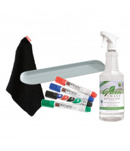 Best-Rite 570 Rite-On Dry Erase Marker, Cloth, Cleaner & Magnetic Tray Whiteboard Accessory Kit