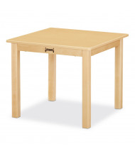 "Jonti-Craft 24"" D Square Multi-Purpose Square Table (Shown in Maple)"