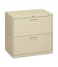 "HON 572LL 2-Drawer 30"" Wide Lateral File Cabinet, Letter & Legal, Putty"