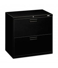 "HON 572LP 2-Drawer 30"" Wide Lateral File Cabinet, Letter & Legal, Black"