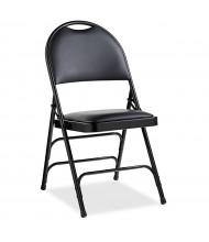 Samsonite Comfort Vinyl Folding Chair, Pack of 4 (Shown in Black)