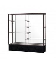 """Waddell Monarch 573 Series Lighted Floor Display Case 72""""W x 72""""H x 16""""D (Shown in Black/Mirror/Dark Bronze)"""
