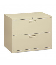 "HON 582LL 2-Drawer 36"" Wide Lateral File Cabinet, Letter & Legal Size, Putty"