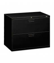 "HON 582LP 2-Drawer 36"" Wide Lateral File Cabinet, Letter & Legal Size, Black"