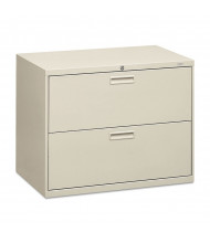 "HON 582LQ 2-Drawer 36"" Wide Lateral File Cabinet, Letter & Legal Size, Light Gray"
