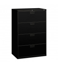 "HON 584LP 4-Drawer 36"" Wide Lateral File Cabinet, Letter & Legal Size, Black"
