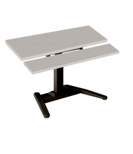 """Mayline LTW 25"""" - 41.5"""" H Electric Height Adjustable Standing Desk With Keyboard Surface (Speckled Grey)"""