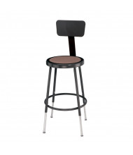 "NPS 19"" - 27"" Height Adjustable Backrest Science Lab Stool (Shown in Black)"