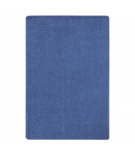 Joy Carpets Just Kidding Solid Color Classroom Rug, Cobalt Blue