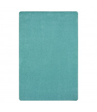 Joy Carpets Just Kidding Solid Color Classroom Rug, Seafoam