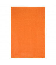 Joy Carpets Just Kidding Solid Color Classroom Rug, Tangerine Orange