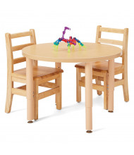 "Jonti-Craft Purpose Plus 30"" W Round Height Adjustable Laminate Preschool Table (Chairs Not Included)"