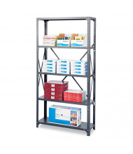 "Safco Commercial 6265 12"" D x 36"" W x 75"" H 5-Shelf Heavy-Duty Steel Shelving Unit"