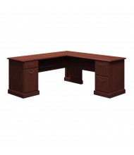 """Bush Syndicate 6310 72"""" W L-Shaped Straight Front Office Desk, Right Return (Shown in Harvest Cherry)"""